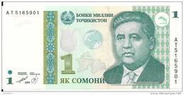 TADJIKISTAN 1 SOMONI 1999 (2010) UNC P 14 - Tajikistan