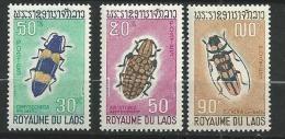 "Laos YT 182 à 184 "" Coléoptères "" 1968 Neuf** - Laos"