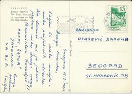 "Yugoslavia 1965 Sarajevo Postcard - Slogan / Flamme ,, Pionirske Igre "" - 1945-1992 République Fédérative Populaire De Yougoslavie"