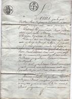 Acte Notarial Vente Notaire Guillochin 1812 Cachet Briouze Lefoyer Lainé 4 Pages - Cachets Généralité