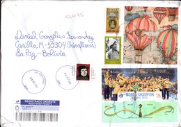 "Brasil 2018 Circulado A La Paz. BF ""Globo"" Ilustración De Daniel Lourenço. BF Handball. Elizabeth II. Leopoldina Joint. - Brazil"