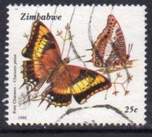 Zimbabwe 1992 Butterflies 25c Value, Used, SG 838 (BA) - Zimbabwe (1980-...)