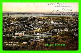 MONTRÉAL, QUÉBEC - VUE DE LA VILLE DE MONTRÉAL DEPUIS LE MONT ROYAL - CIRCULÉE EN 1909 - WARWICK BROS & RUTTER - - Montreal