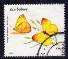 Zimbabwe 1992 Butterflies 59c Value, Used, SG 839 (BA) - Zimbabwe (1980-...)