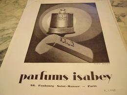 ANCIENNE PUBLICITE PARFUM MON SEUL AMI DE ISABEY  1930 - Parfums & Beauté
