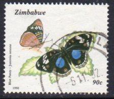 Zimbabwe 1992 Butterflies 90c Value, Used, SG 842 (BA) - Zimbabwe (1980-...)