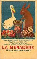 -ref-B52- Publicite - La Menagere - Conserves Fruits Legumes Patés - Illustrateur E.l. Cousyn - Illustrateurs - - Publicité