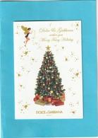 Dolce & Gabbana Très Jolie Carte De Noël ,La Carte Est Double,le Dos Est Vierge - Perfume Cards