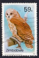 Zimbabwe 1993 Owls II 59c Fishing Owl Value, Used, SG 851 (BA) - Zimbabwe (1980-...)