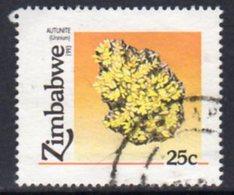 Zimbabwe 1993 Minerals 25c Uranium Value, Used, SG 844 (BA) - Zimbabwe (1980-...)