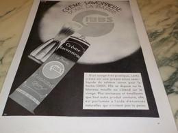 ANCIENNE PUBLICITE CREME SAVONNEUSE POUR BARBE GIBBS  1931 - Parfums & Beauté