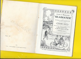"""Catalogue 1903 Cycles """"GLADIATOR"""" 24 Pages + Couverture Format 18 X 14 Cm Env.. - Cyclisme"""