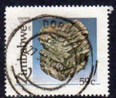 Zimbabwe 1993 Minerals 59c Chrome Value, Used, SG 844 (BA) - Zimbabwe (1980-...)