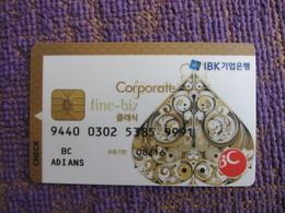 Korea Invalied Bank Card, Poker Spade, Corporate Card(rare) - Korea, South