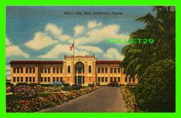 HOLLYWOOD, FL - CITY HALL - ANIMATED WITH OLD CARS - GULF STREAM CARD - - Etats-Unis