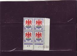 N° 1184 - 2F Blason De NICE - B De A+B - 1° Tirage Du 9.10.58 Au 7.11.58 - 27.10.1958 - - Coins Datés