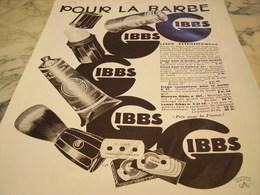 ANCIENNE PUBLICITE SAVON POUR LA BARBE  GIBBS 1932 - Parfums & Beauté
