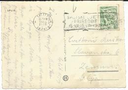 """Yugoslavia 1955 Split Postcard - Slogan / Flamme ,, Splitske Letnje Priredbe """". - 1945-1992 Socialistische Federale Republiek Joegoslavië"""