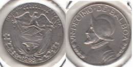 Panama 1⁄10 Balboa 1968 Vasco Núñez De Balboa KM#10a - Used - Panama
