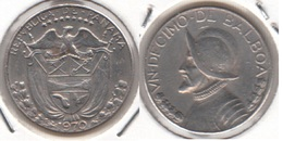 Panama 1⁄10 Balboa 1970 Vasco Núñez De Balboa KM#10a - Used - Panama