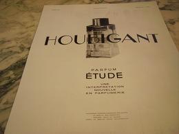 PUBLICITE PARFUM ETUDE DE  HOUBIGANT 1931 - Parfums & Beauté