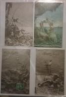 Lot De 4 Cartes Postales /  Sirènes Sculptographie D. MASTROIANNI /91 - Sculptures