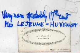 Mme Lejeune-Huvenoit  65, Rue De Provence  (110960) - Cartes De Visite