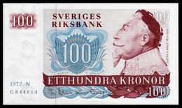 SWEDEN - SUEDE - 100 Kronor - 1972 - Gustav II - P54b - UNC - Bateau - Suède
