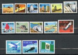 Rhodésie, Yvert 182/195, Scott 275/277,279,281,284/286,288/293, MNH - Rhodesien (1964-1980)