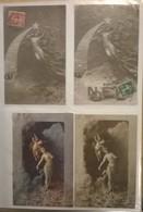 Lot De 4 Cartes Postales /  Sculptographie D. MASTROIANNI /97 - Sculptures