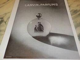 ANCIENNE PUBLICITE LANVIN-PARFUM 1932 - Affiches