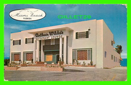 MIAMI BEACH, FL - ARTHUR WILDE'S OCEANFRONT RESTAURANT AND BEACH - TRAVEL IN 1955 - - Miami Beach