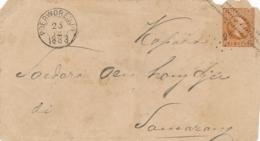 Nederlands Indië - 1883 - Kleinrond + Puntstempel Poerworedjo Op Cover-front Naar Samarang - Indes Néerlandaises