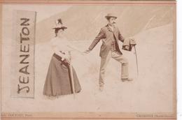 Photo Sur Carton  15,5 Cm. X 10,7 Cm.  -  CHAMONIX.  -  Excursion  En Janvier 1897 - Chamonix-Mont-Blanc