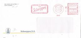 31112. Carta MADRID 1990. Franqueo Mecanico SCHWEPPES, Bebida Refrescante - 1931-Hoy: 2ª República - ... Juan Carlos I