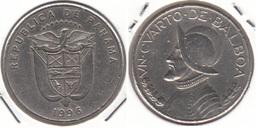 Panama ¼ Balboa 1996 KM#128 - Used - Panama