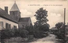 89 - Yonne / 10067 - Beauvilliers - L'église Et La Rue Principale - France