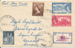 New Zealand FDC 25-5-1953 Queen Elizabeth II Coronation Set Of 5 - FDC