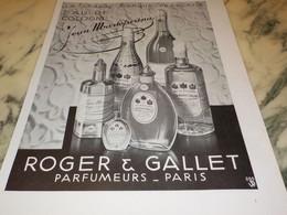 ANCIENNE PUBLICITE EAU DE COLGNE ROGER GALLET  1931 - Parfums & Beauté