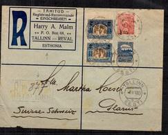 Estonie Très Belle Lettre De 1920 Pour La Suisse. Affranchissement Composé. B/TB. A Saisir! - Estonie