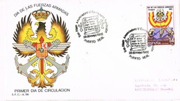 31114. Carta PUERTO REAL (Cadiz) 1982. V Centenario Fundacion. Dia Fuerzas Armadas - 1931-Hoy: 2ª República - ... Juan Carlos I