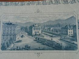 NOUVEAU - FRANCE -SAVOIE - CHAMBERY - TRAMWAYS DE LA SAVOIE - ACTION 100 FRS - 1896 - BELLE ILLUSTRATION - Actions & Titres