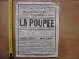 Ancienne Affiche 1912 Theatre Chatillon Seine 21 LA POUPEE Tournee Bardot Piano - Affiches