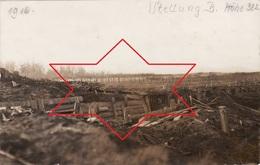 CP Photo 1916 ASPACH-LE-BAS (Niederaspach) - Position Allemande, Tranchée De 1ère Ligne, Côte 322 (A204, Ww1, Wk 1) - France