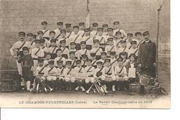 LOIRE  LE CHAMBON FEUGEROLLES  LE REVEIL  CHAMBONNAIRE EN 1909 ANIMEE NON ECRITE - Le Chambon Feugerolles