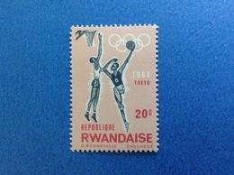 1964 RWANDA REPUBLIQUE RWANDAISE OLIMPIADI TOKYO PALLACANESTRO BASKET 20 C FRANCOBOLLO NUOVO STAMP NEW MNH** - 1962-69: Nuovi