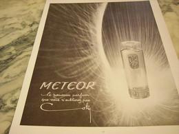 ANCIENNE PUBLICITE PARFUM METEOR  DE COTY  1951 - Perfume & Beauty