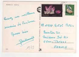 """Beaux Timbres , Stamps  """" Minéraux """" Sur Cp , Carte  Multivues De 1979 Pour La France - Kenya (1963-...)"""