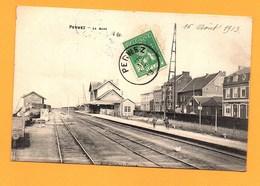 """Carte Postale En Noir & Blanc """" La Gare """" à PERWEZ - Perwez"""