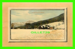 GREEN MOUNTAINS, VT - CAMEL'S HUMP IN WINTER - GREEN MOUNTAIN CARD CO - - Etats-Unis